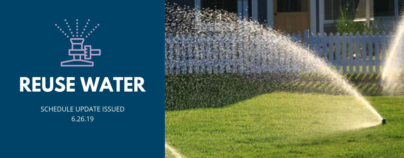 lawn sprinkler reuse water schedule update alert