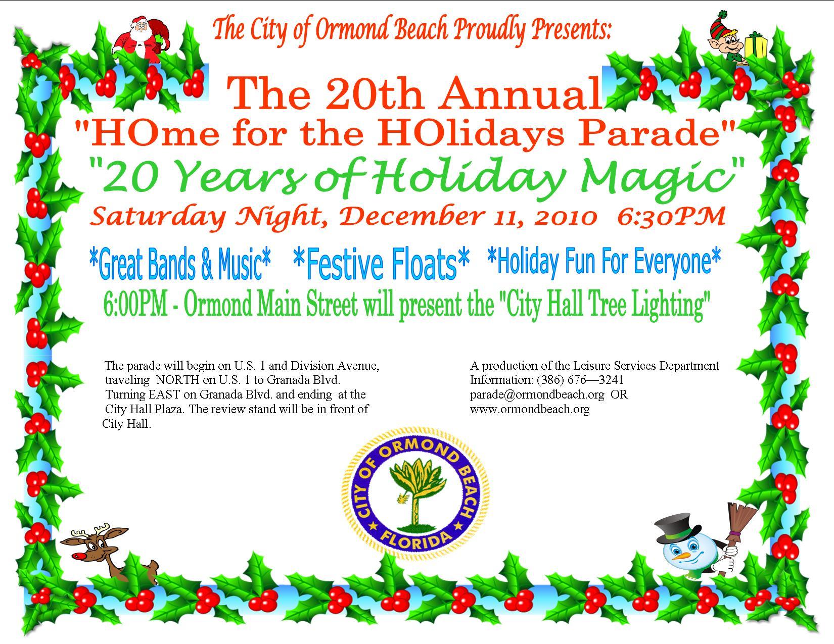 City Of Ormond Beach Christmas Parade 2020 City of Ormond Beach, FL   Official Website